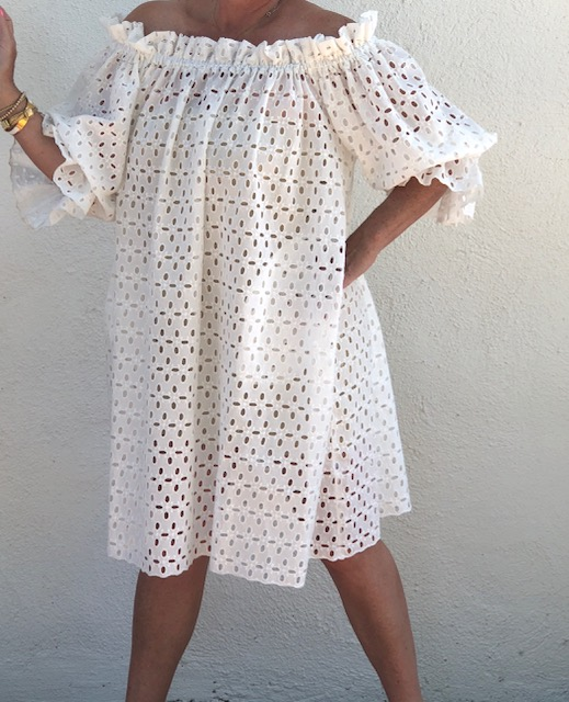 216a17f2d52 Elsa dress - white eyelet - Monica Mahoney